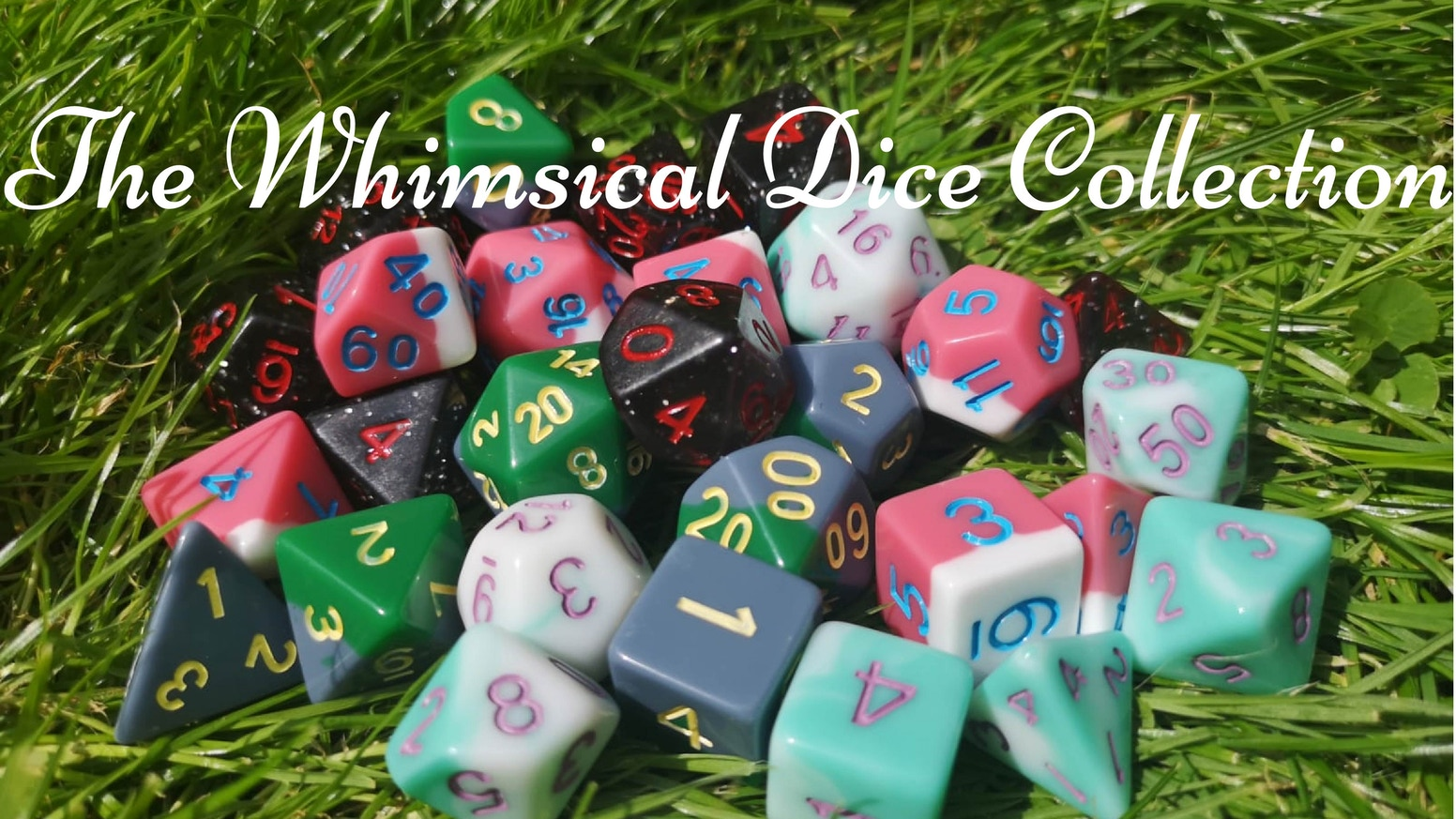 A set of 5 dice designs inspired by adventures in Japanese animated films