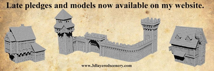 3D printable models to make your dungeons and dragons game or medieval tabletop wargame a real spectacle.