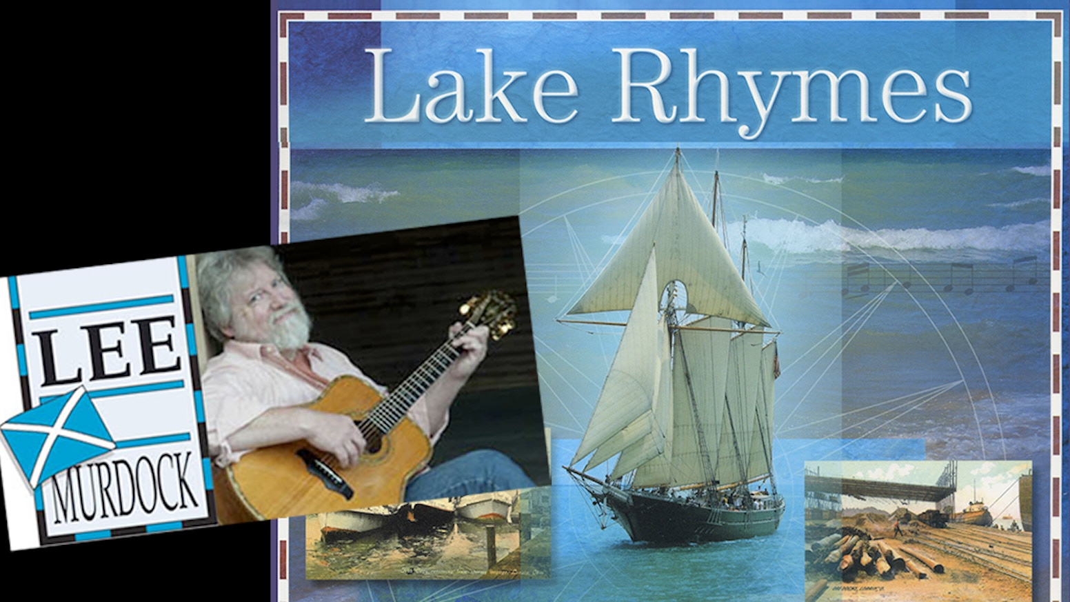 Limited Edition Coffee Table Hardcover book & 18-song CD celebrates Great Lakes waters & mariners in historic photos maps & Song