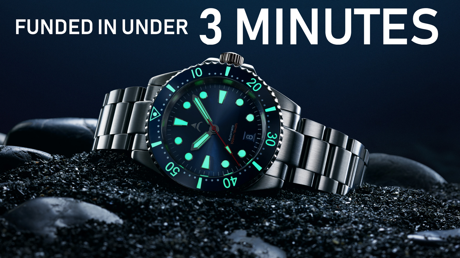 Iconic stainless-steel dive watches with 500m depth rating. Designed to offer superb value with great specifications.