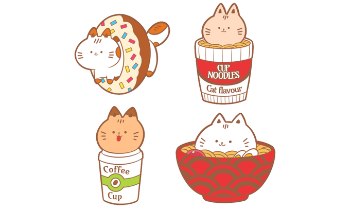 Cute Cats Hard Enamel Pins by Willow