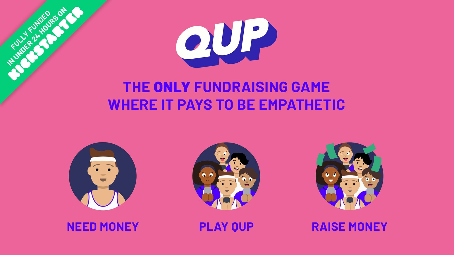 QUP is a mobile game that teaches students empathy and rewards them with cash for playing.