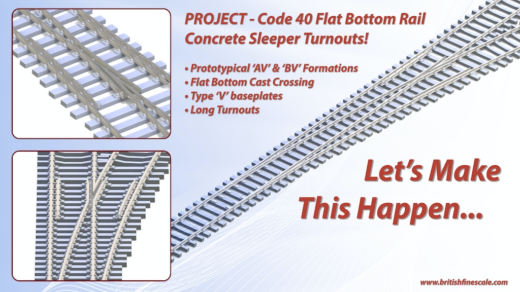 Project image for N Gauge Code 40 Flat Bottom Rail Concrete Sleeper Turnouts