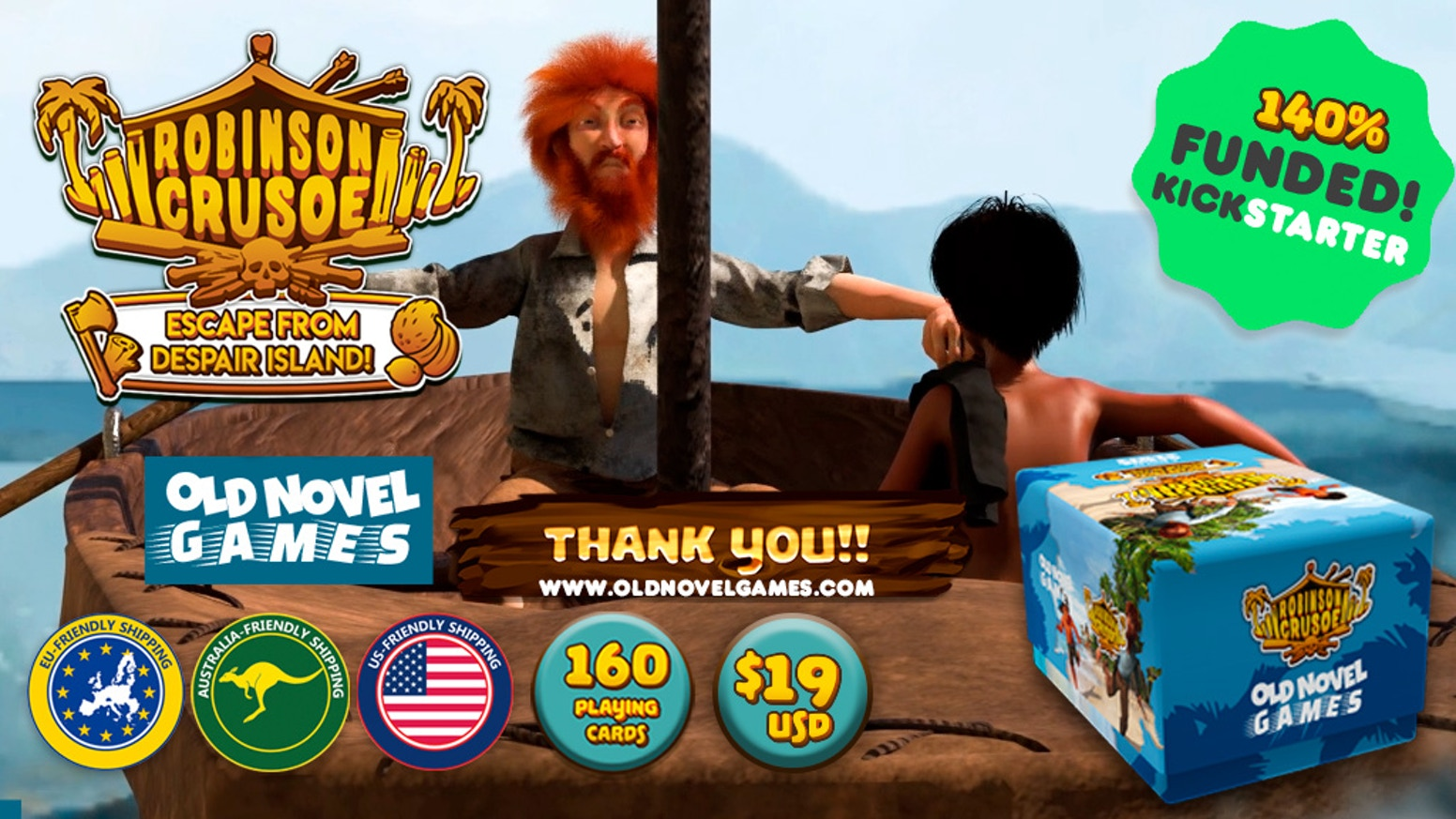 A dynamic game that puts you into Crusoe's shoes, shipwrecked and stranded on an island, you´ll need to survive and escape to win!
