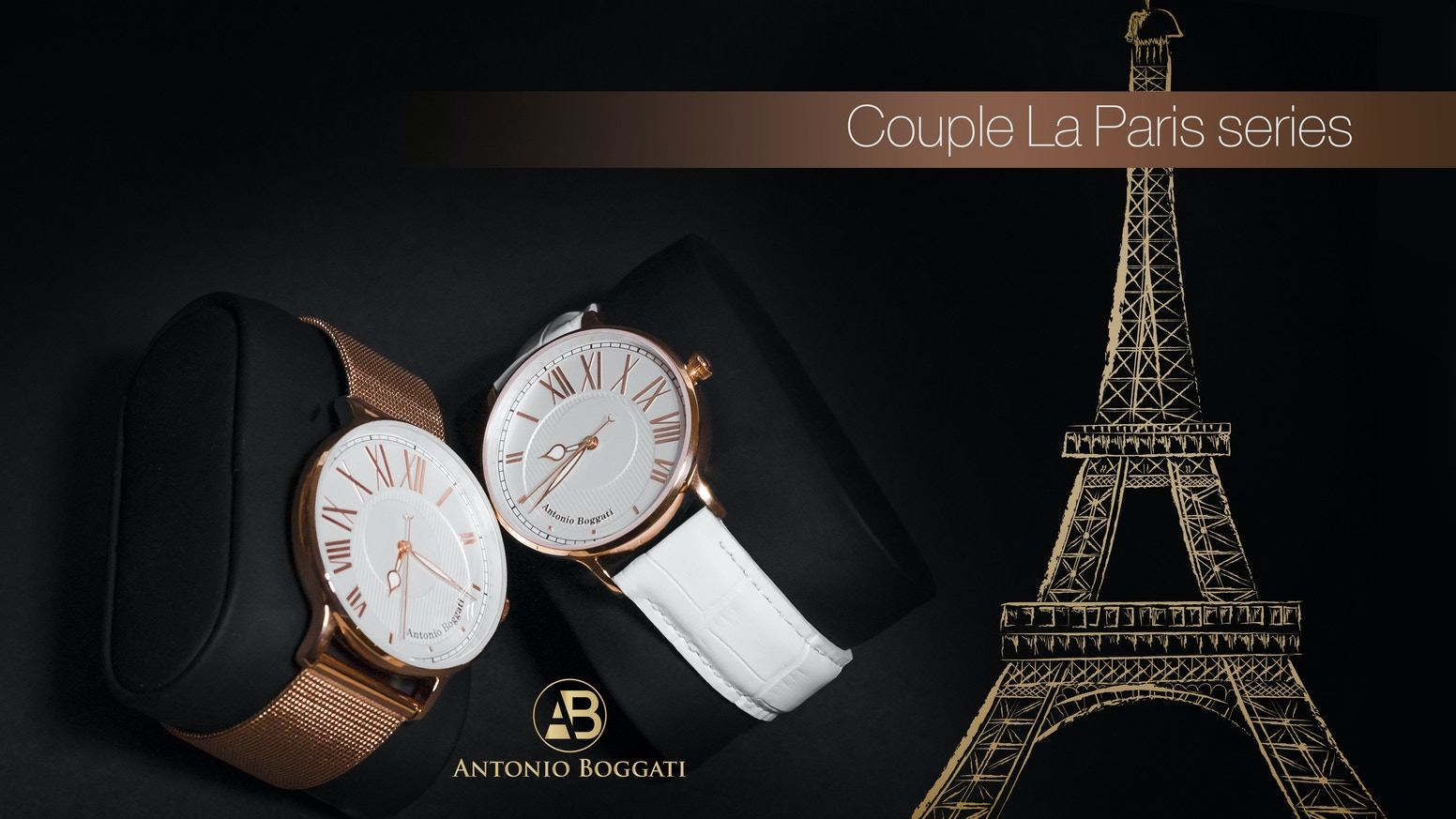 The chemistry between a man and woman united in a luxury watch collection.