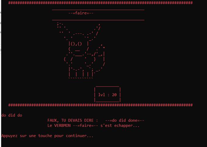 VerbMon, an educational cartoon video game.