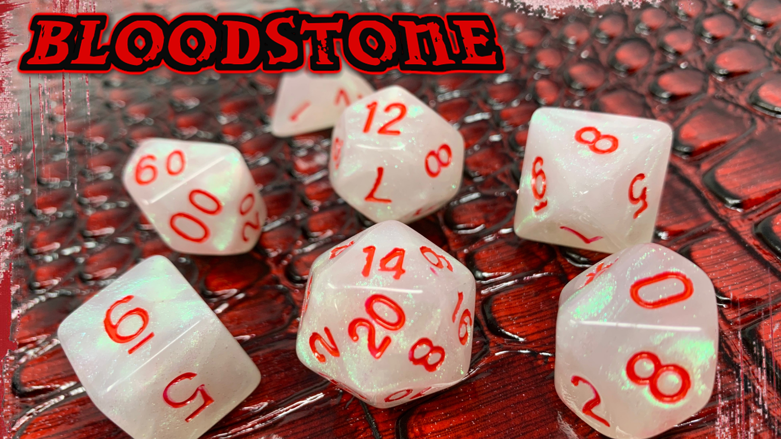 D&D Dice with a bloody twist.