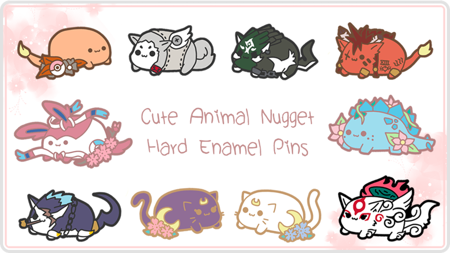 Little pins inspired by gaming, anime and ...dinosaurs! :D