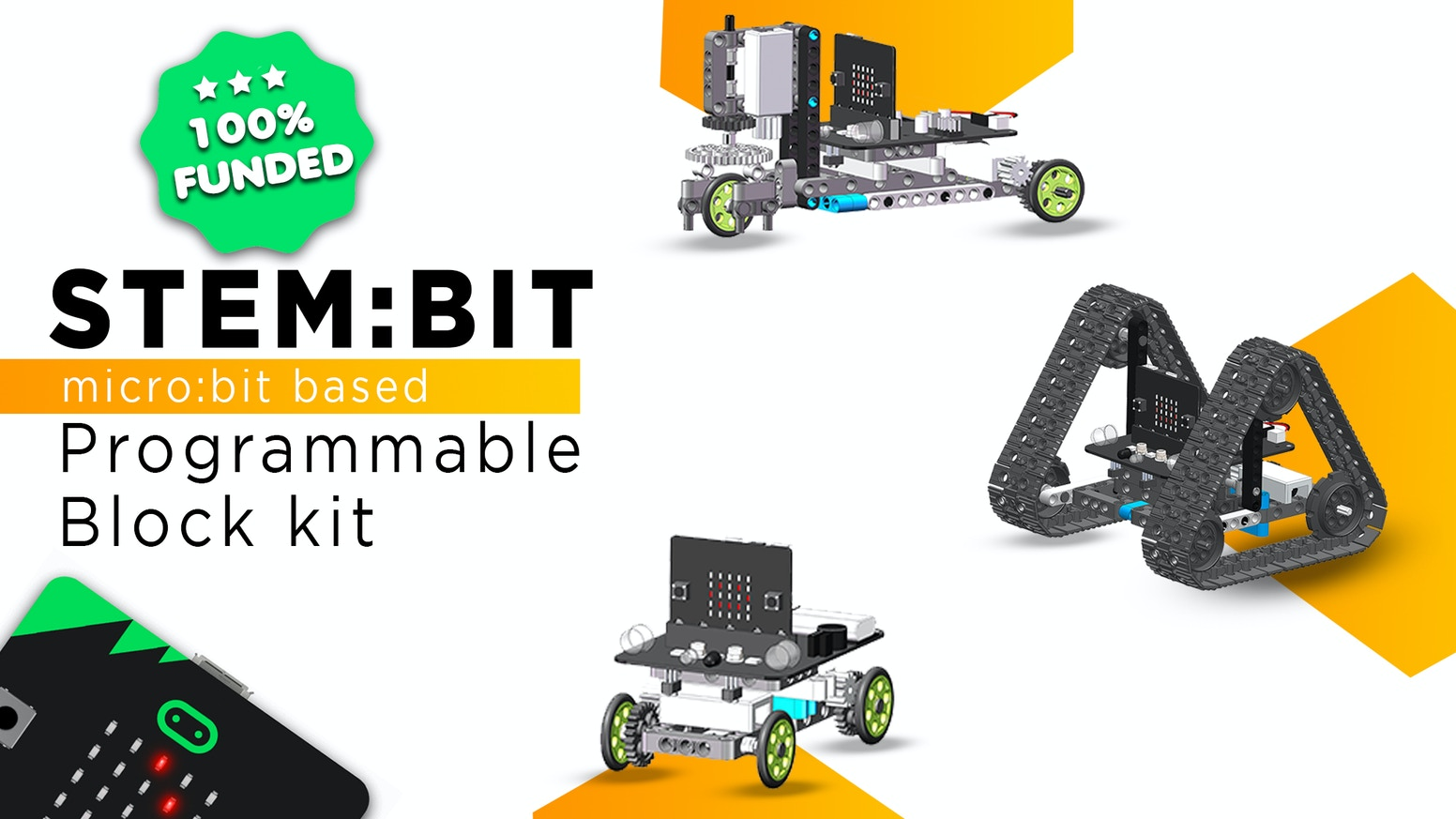 micro:bit Powered | STEM Based | Easy to Assemble | Programmable Blocks kit | For 8+ age groups | Play & Learn