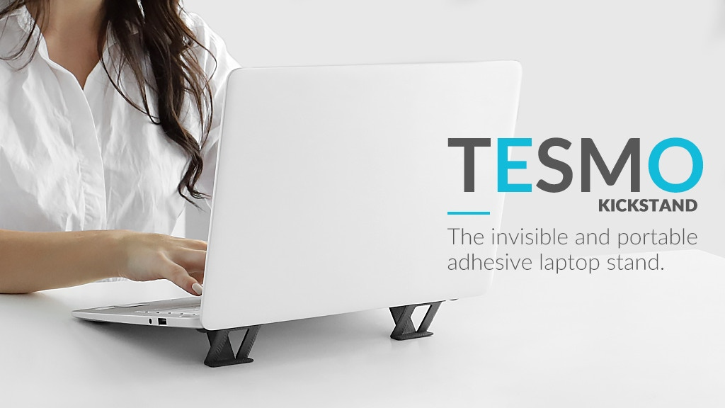 Tesmo— The Invisible & Portable Adhesive Laptop Stand project video thumbnail