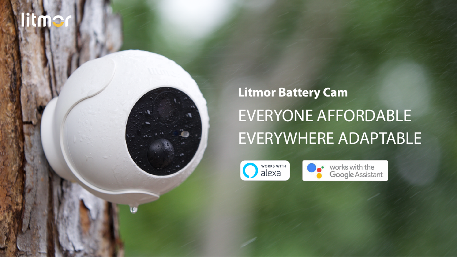 Motion Detection/ 1080p HD/ Free Local Storage/ Color Night Vision/ Waterproof IP66/ Smart Alerts/ Easy Installation