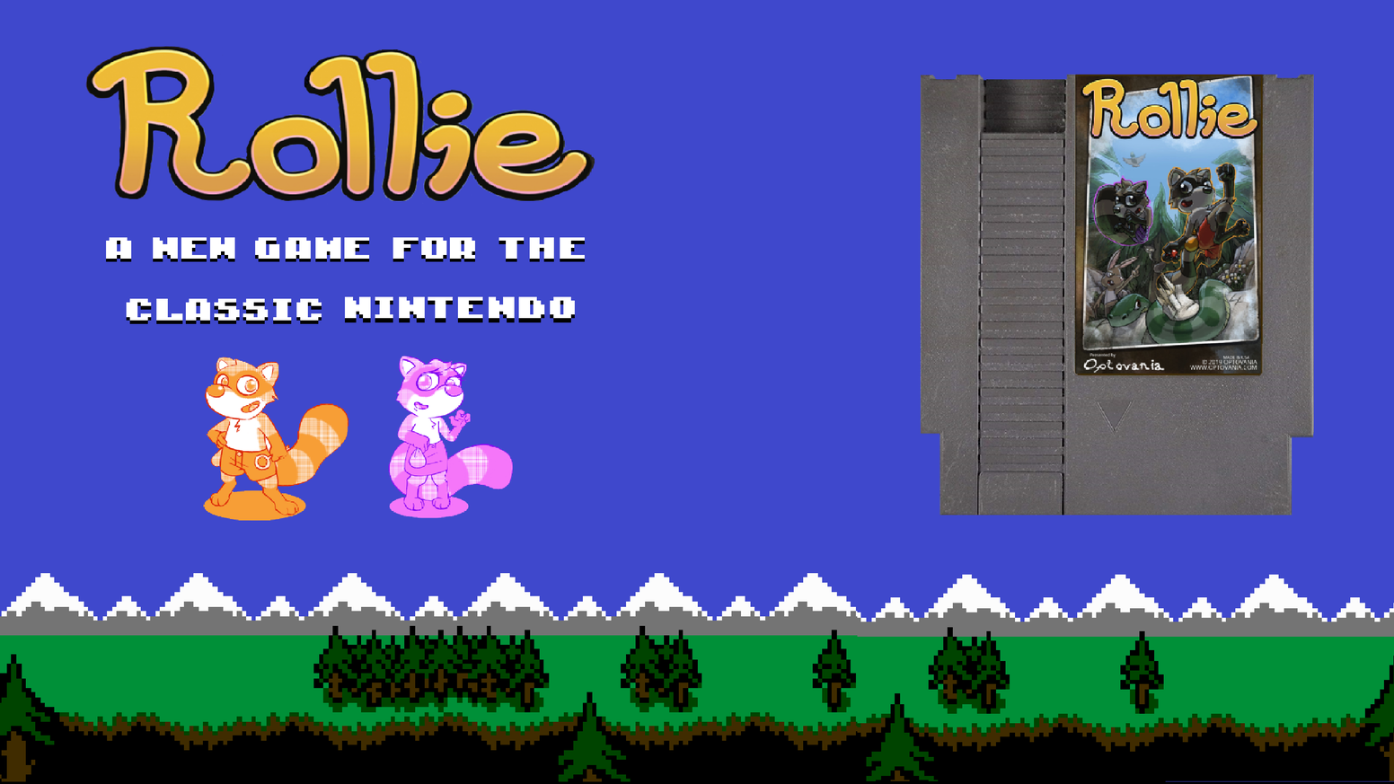 A family friendly platformer for the NES starring Rollie, the rolling raccoon