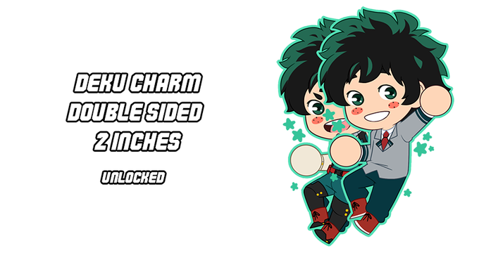 2 in, Double Sided BNHA charms