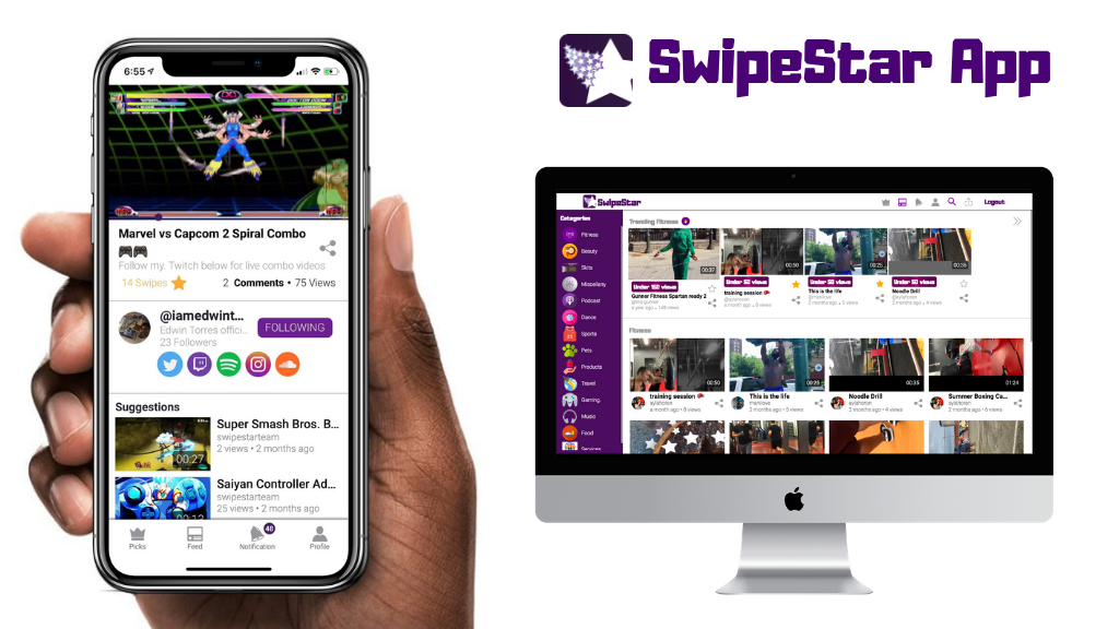 Project image for SwipeStar Social Media App