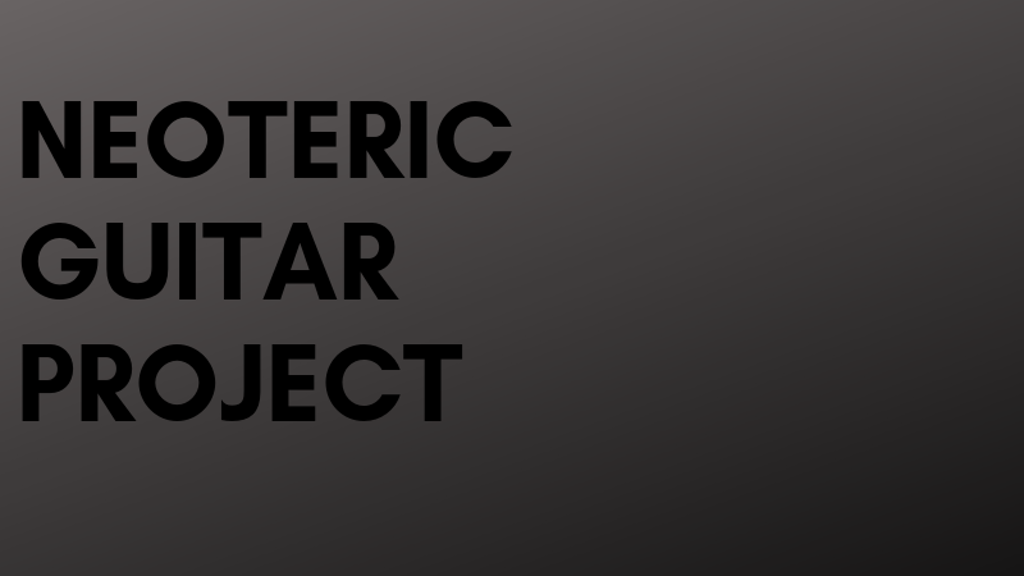 Neoteric Guitar Project by Duo Charango project video thumbnail