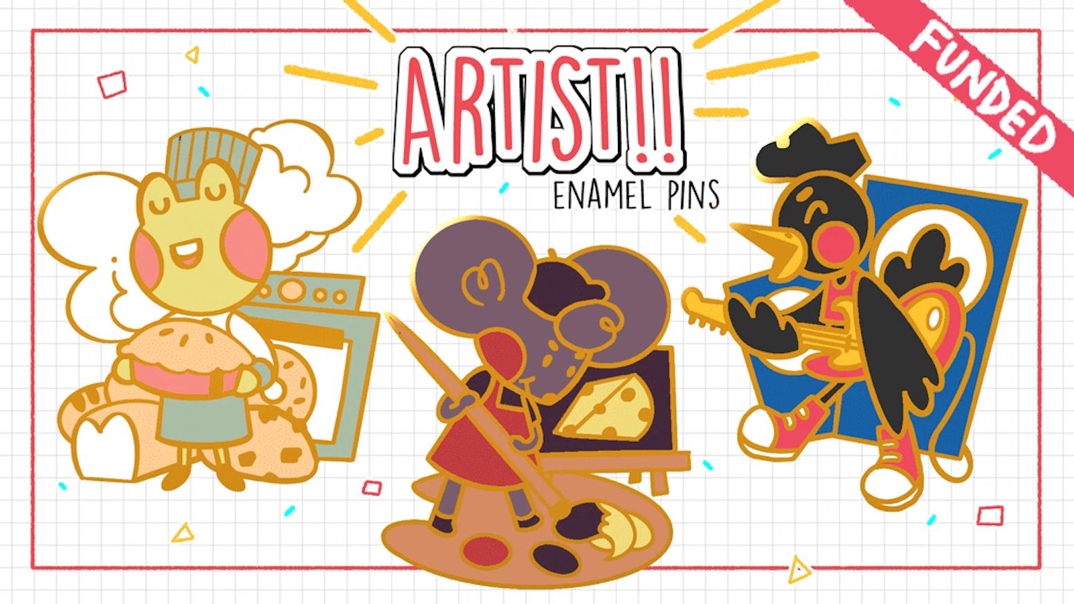 ARTIST!! Enamel Pins by mon! — Kickstarter