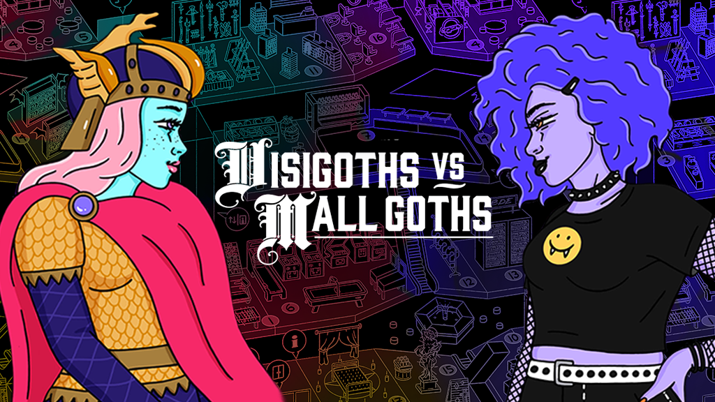 Visigoths vs Mall Goths (game & weird 90s mall setting) project video thumbnail
