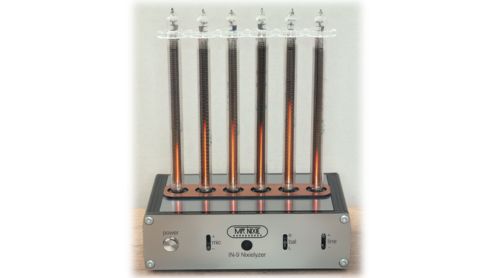 6-Band Audio Spectrum Analyzer with 6 x IN-9 NOS Nixie Bargraph tubes (Ready-to-Play or as an electronic DIY kit available)