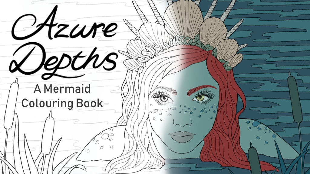 Azure Depths A Mermaid Colouring Book by Ellenstration ...