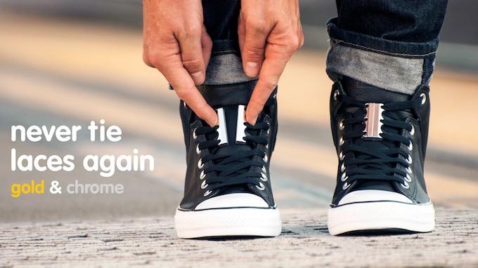 ZUBITS magnetic lacing - Metallics - Never tie laces again!