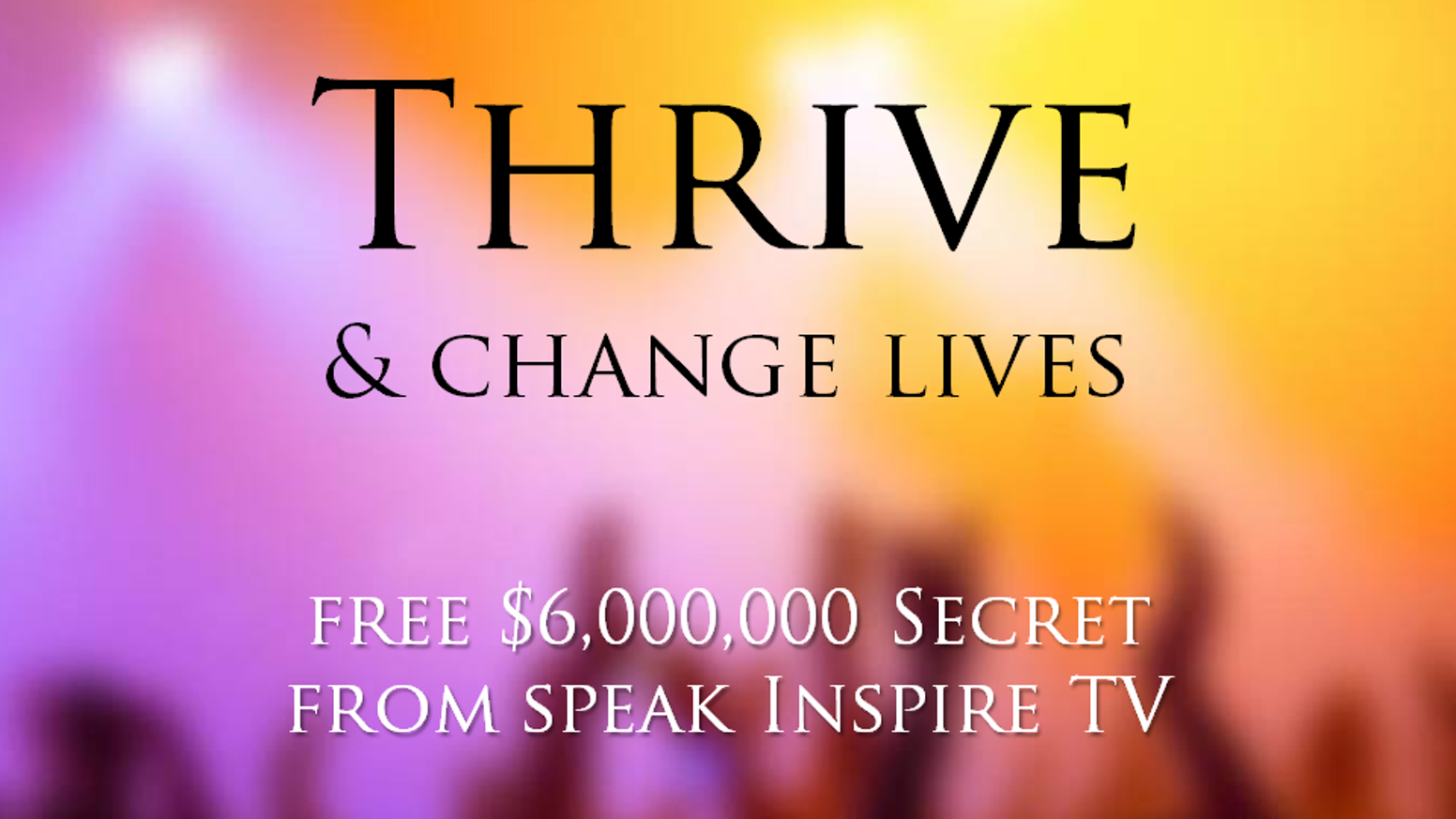 Prosper by Inspiring Kindness.Thrive. Change Lives. Get High-Paying Speaking Gigs. Join Speak Inspire TV.Live Your Dreams, Inspire Your World.
