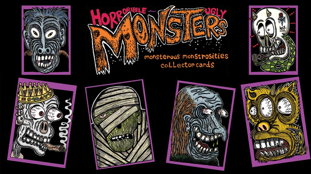 Horrible Ugly Monsters Trading Cards THE SET & WAX BOXES project video thumbnail