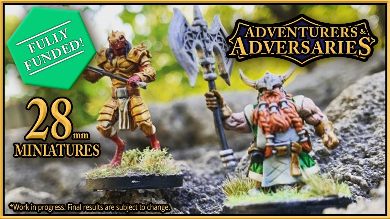 Adventurers & Adversaries: High Quality Resin Miniatures with Options Great for DND, Pathfinder and other Fantasy RPGs and Dice!