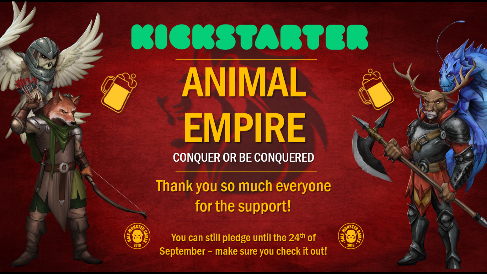 Animal Empire, an innovative card game where you build an Empire by capturing your friends as Vassals to team up against everyone else!
