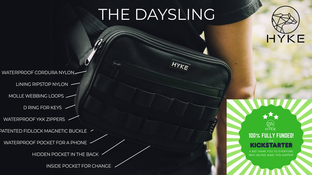 HYKE | The Hiking DaySling That You'll Take Everywhere! project video thumbnail