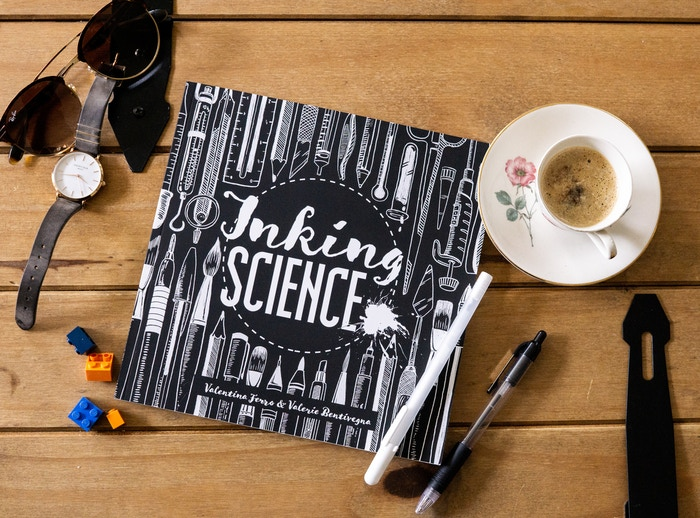 An illustrated science book featuring 31 ink drawings of scientists and their stories. Missed the Kickstarter?Check the link below to pre-order the book, or contact us at info@inkingscience.com for custom orders!