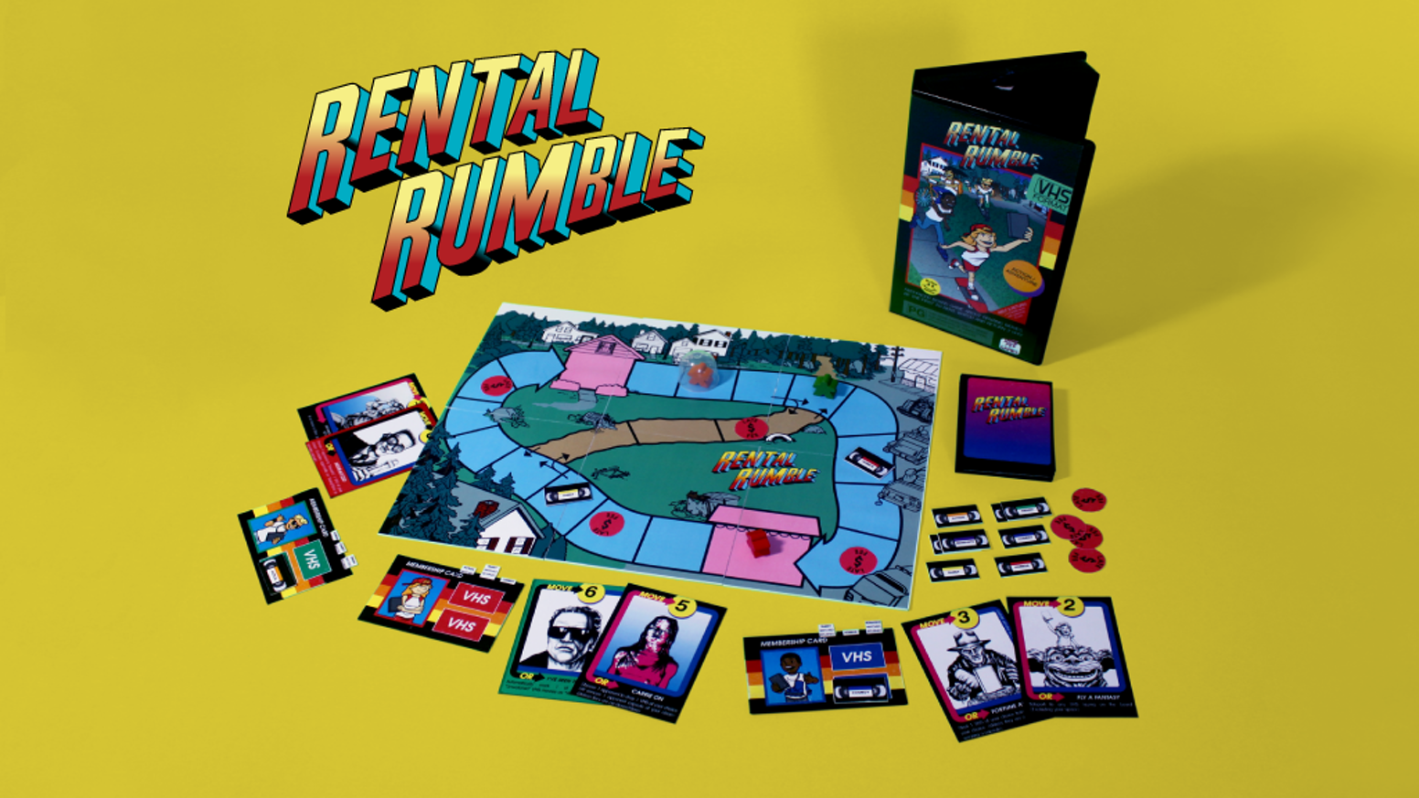 Indie board game celebrating video rental stores and movies from the 80s and 90s.