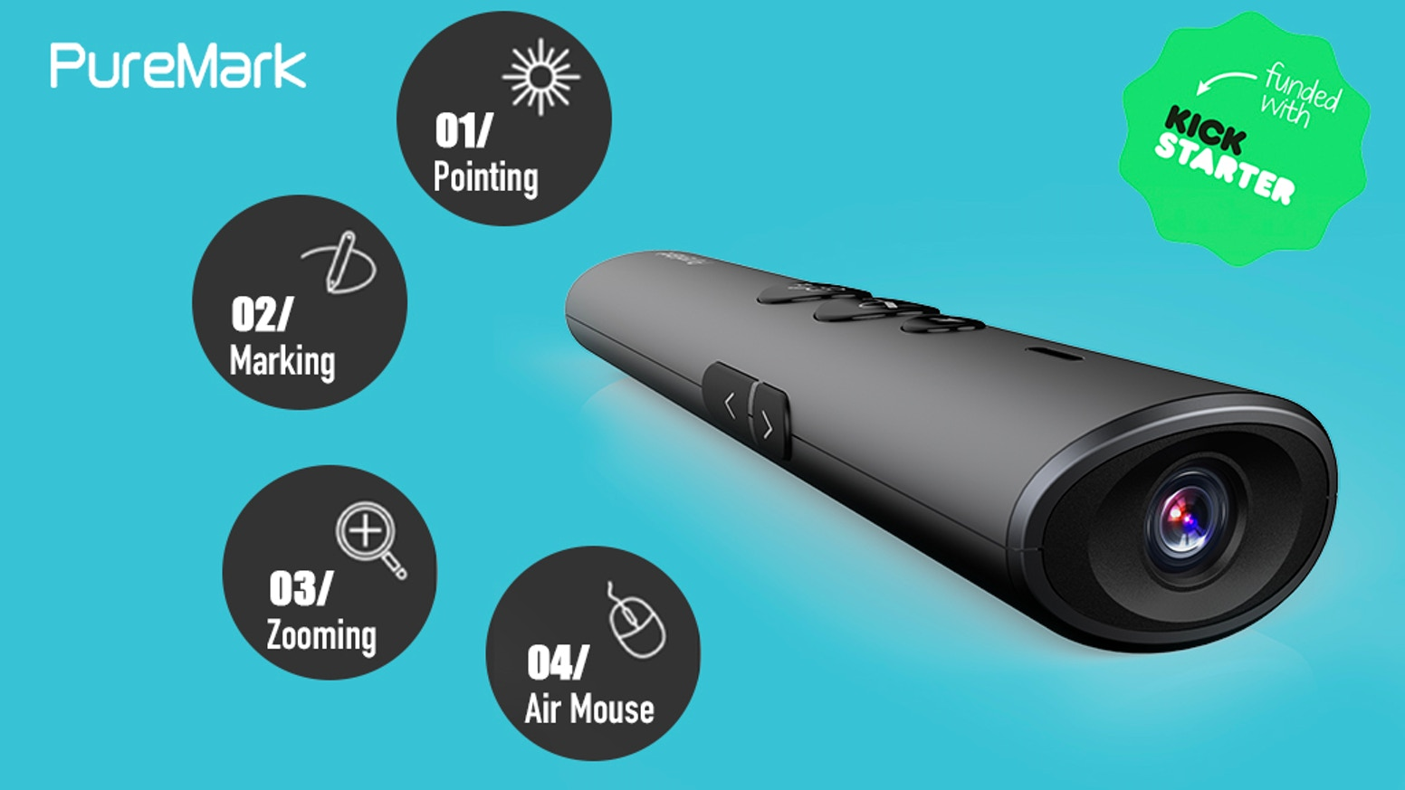 The Wireless Presenter with air mouse and rich interaction function to boost efficiency and productivity