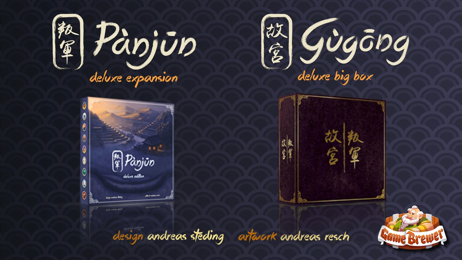 Gùgōng: Pànjūn: 4 expansion modules in 1 box of this 2018 hit! Designed by Andreas Steding with art from Andreas Resch.
