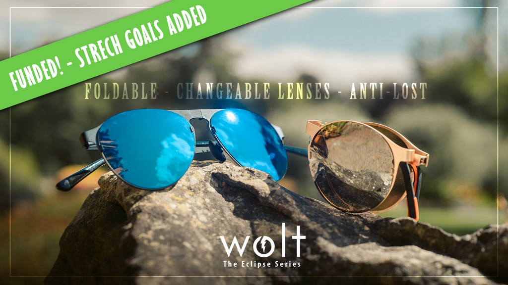 WOLT - Changeable, folding sunglasses with anti-lost system project video thumbnail