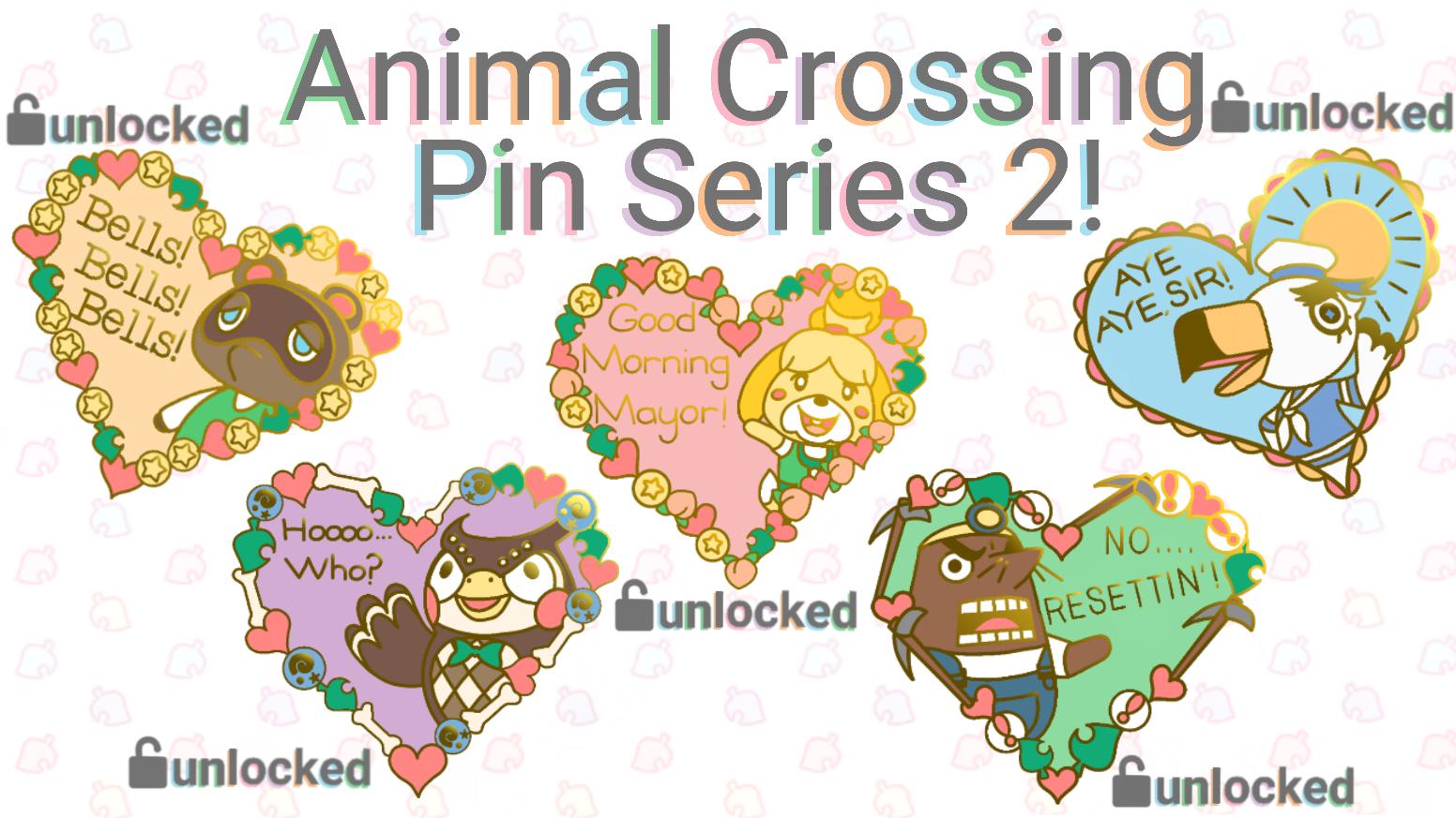 Animal Crossing Love Heart Pins Series 2 By Caitlyn