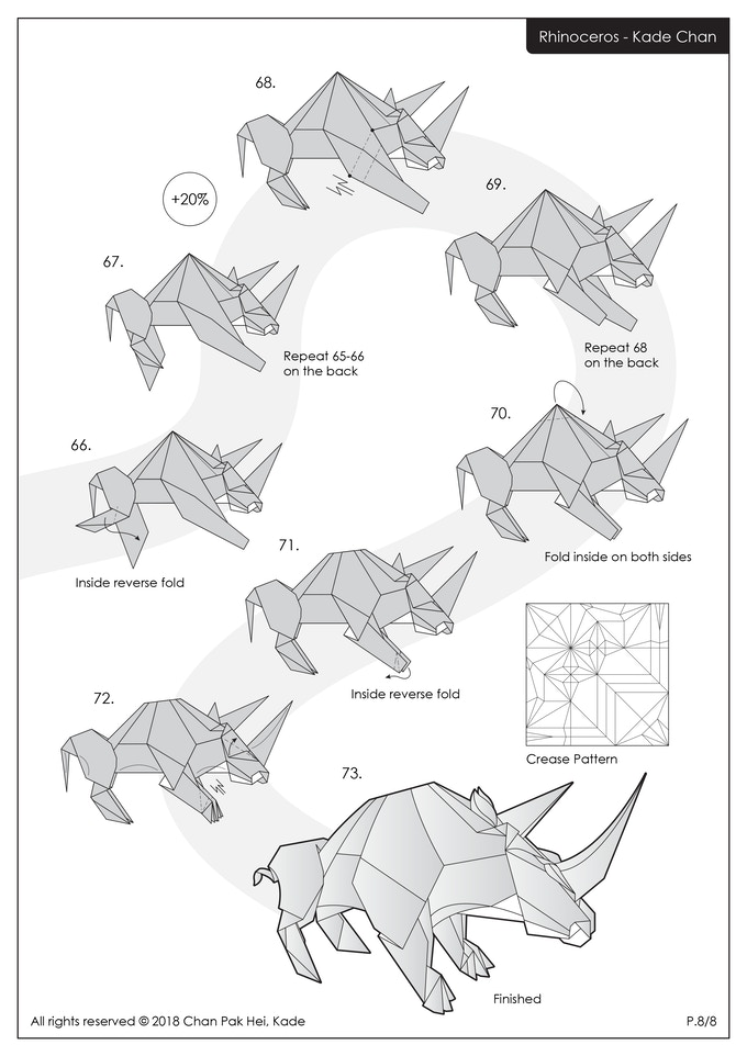 origami+dragon+instructions | Chan Origami Blog 香港摺紙工作室 ... | 962x680