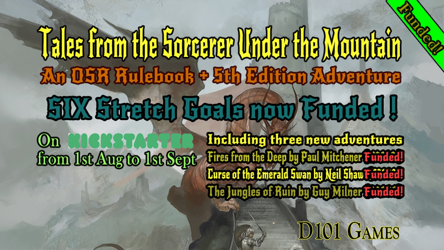 A  rulebook/adventure for OSR/5th editions inspired by 80s British Fantasy Roleplaying Games.