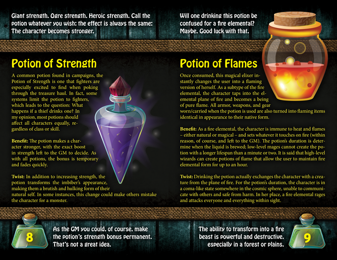 The Book of Unusual Potions, for use with Fantasy RPGs