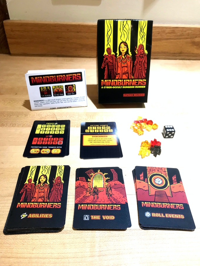 MINDBURNERS - A Cyber-Occult Dungeon Runner Game
