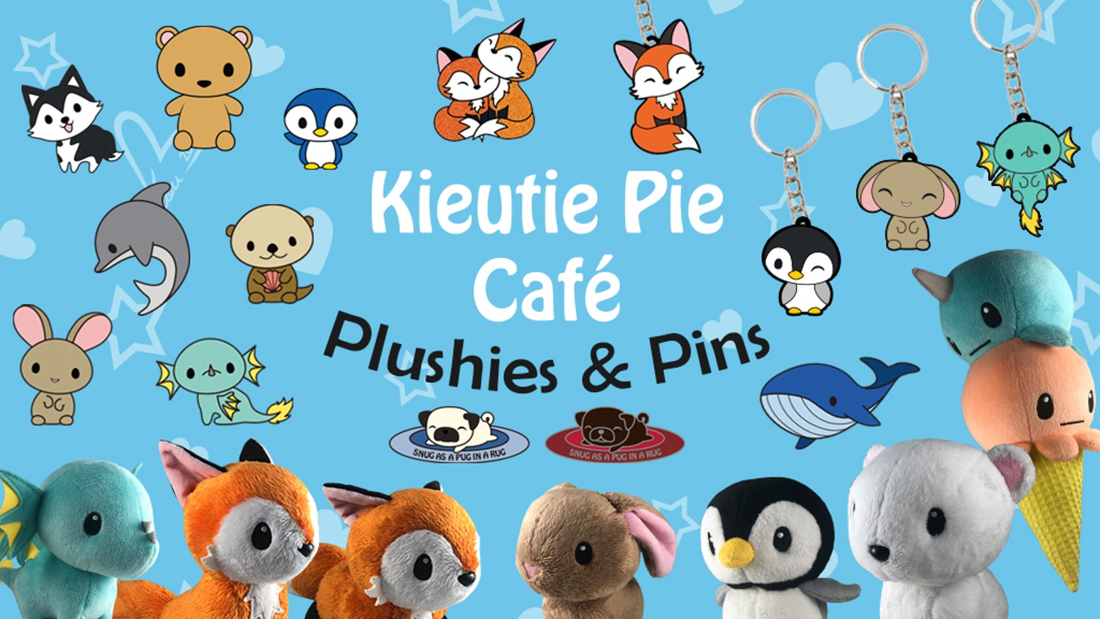 Welcome to Kieutie Pie Café! Help bring Coffee Fox and friends to life as cuddly travel buddy plushies!