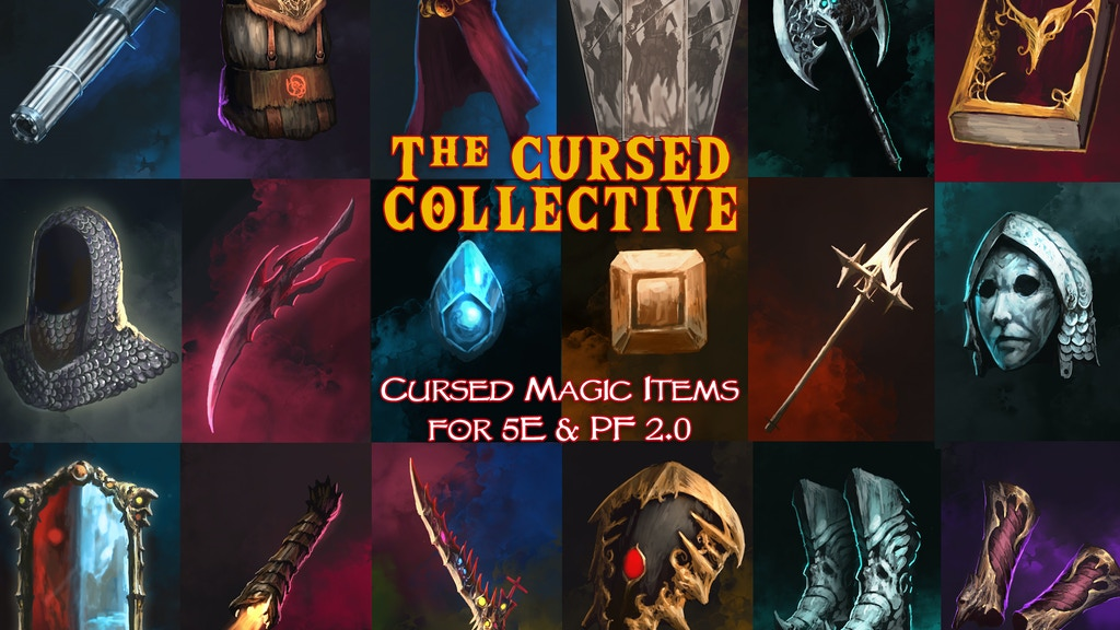 The Cursed Collective: 5E / PF 2.0 Compatible Cursed Items project video thumbnail