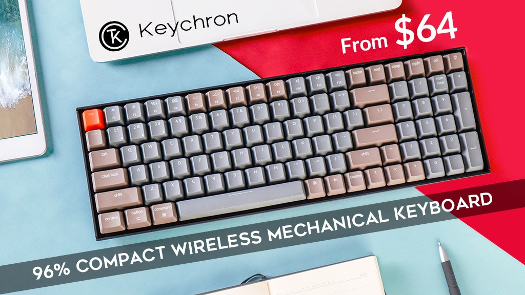 Keychron K4 | 96% Compact Wireless Mechanical Keyboard project video thumbnail