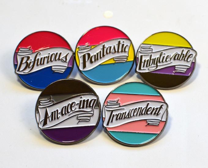 Queer Puns Enamel Pins by Femmecraft — Kickstarter