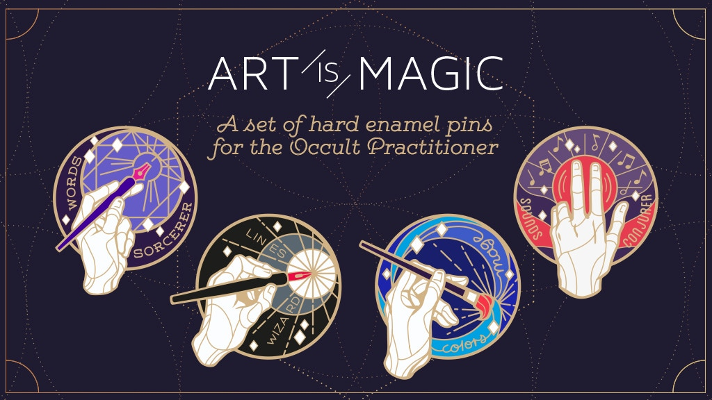 Art is Magic — Enamel pins for the occult practitioner ✧ by