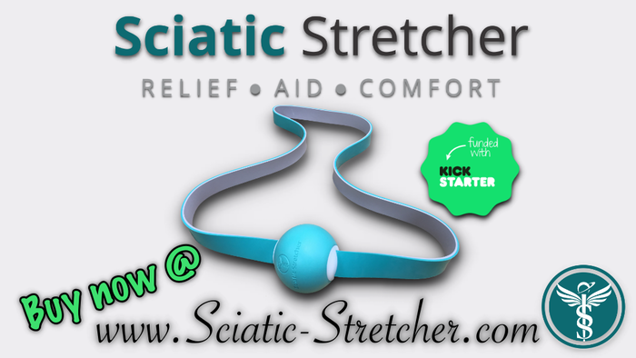 A stretching device to help relieve sciatic pain.