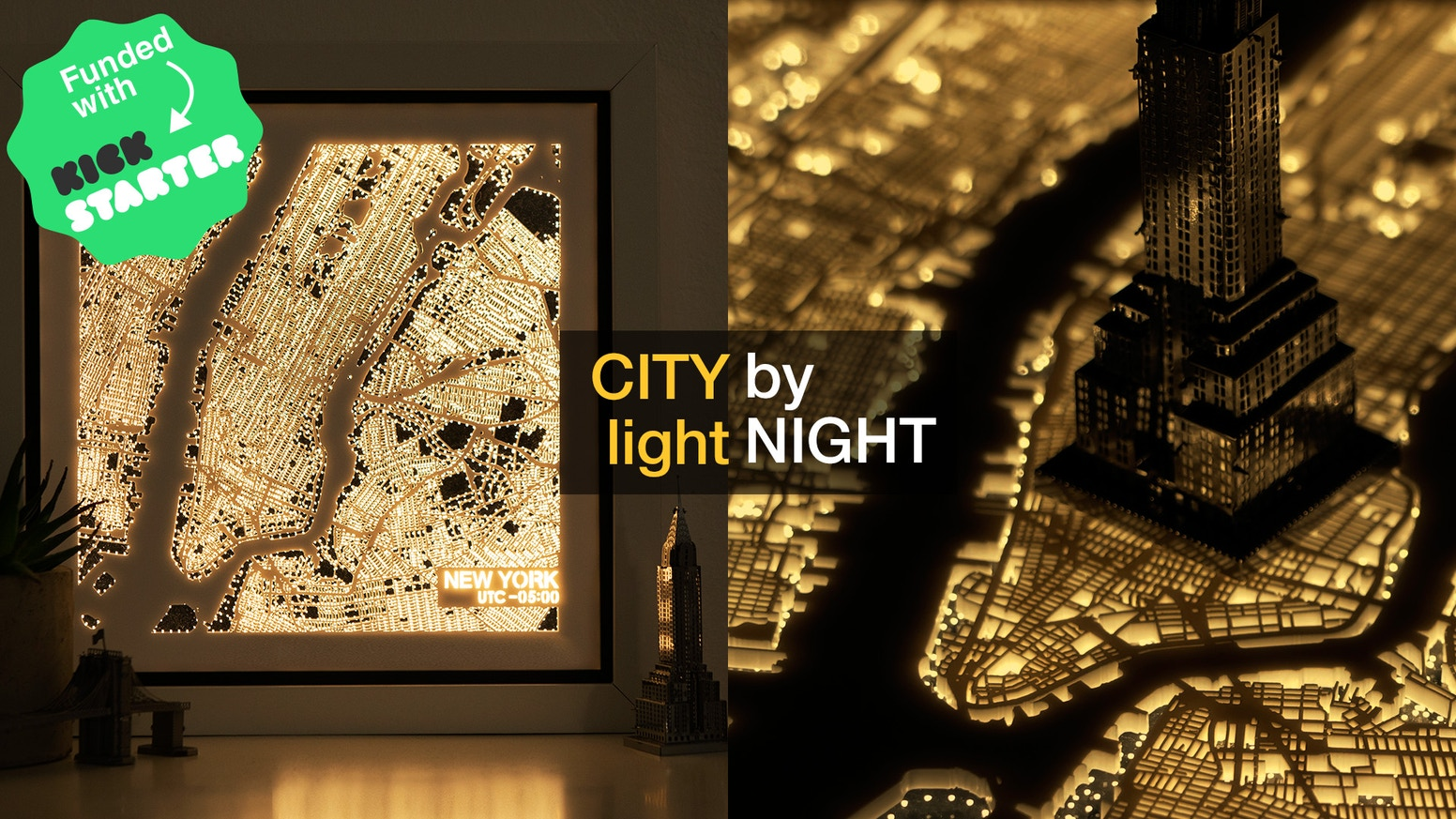 A decoration lamp display famous city maps from around the world. Style your home in the day, and experience the city light at night.