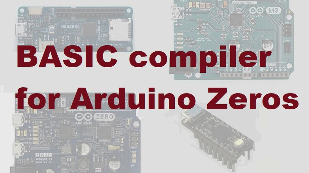 BASIC compiler for Arduino Zero boards. project video thumbnail