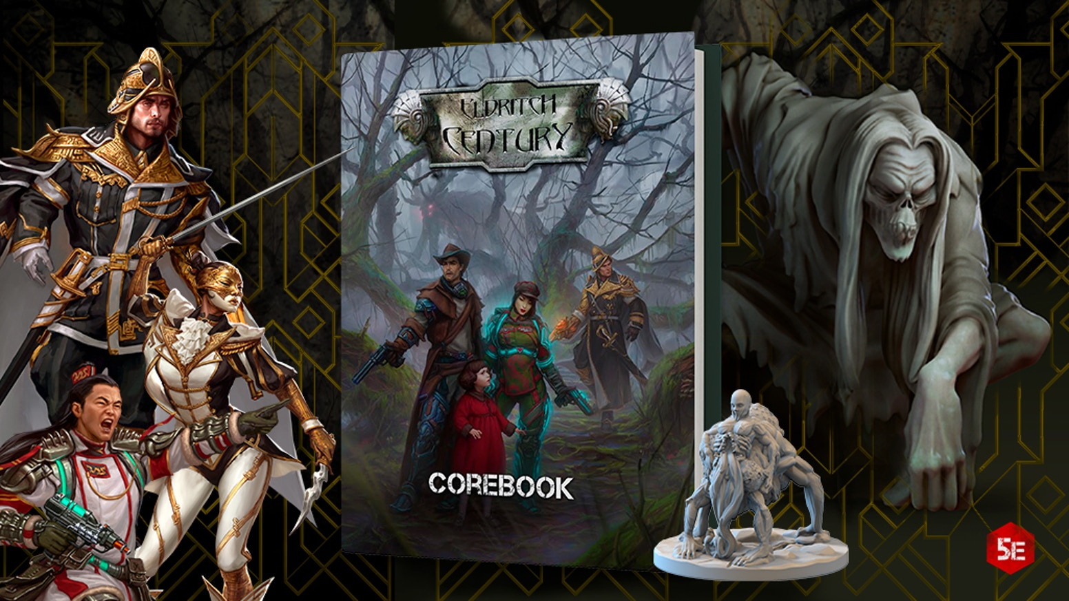 400-page RPG Corebook compatible with 5e plus 3D printable files.