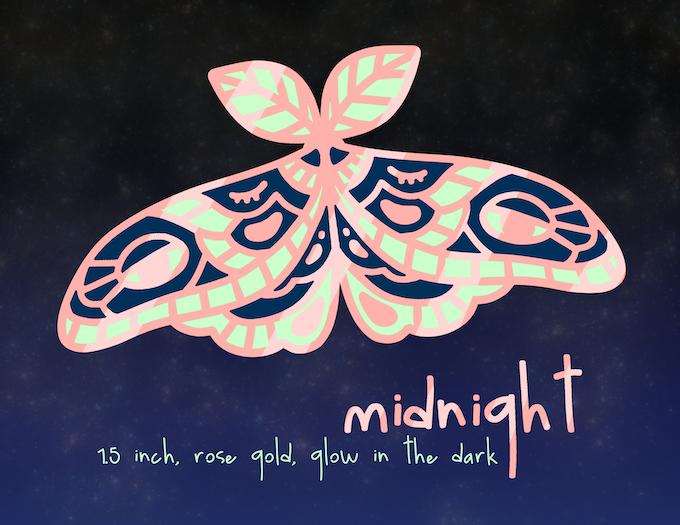 SAD ALL NIGHT moth enamel pin