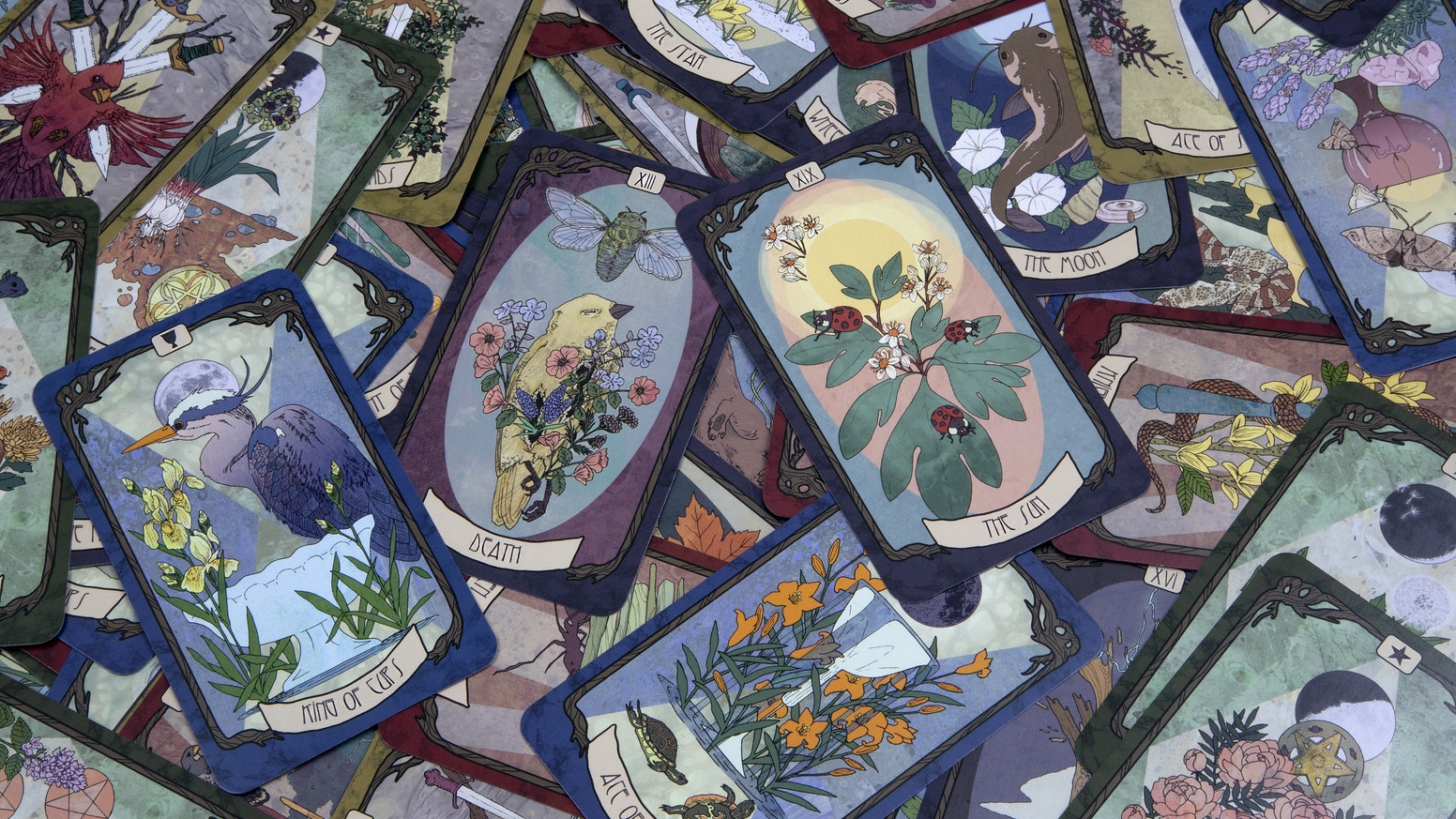 A 78 card tarot deck inspired by Art Nouveau and the natural world around us.
